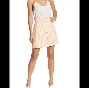 NWT Stripe Linen Blend Skirt Coral Nordstrom Rack